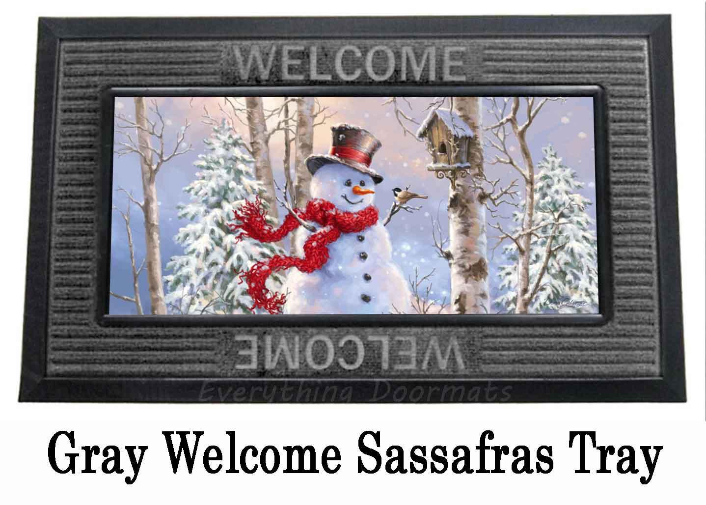 Birch Forest Snowman Switch Doormat - 10 x 22