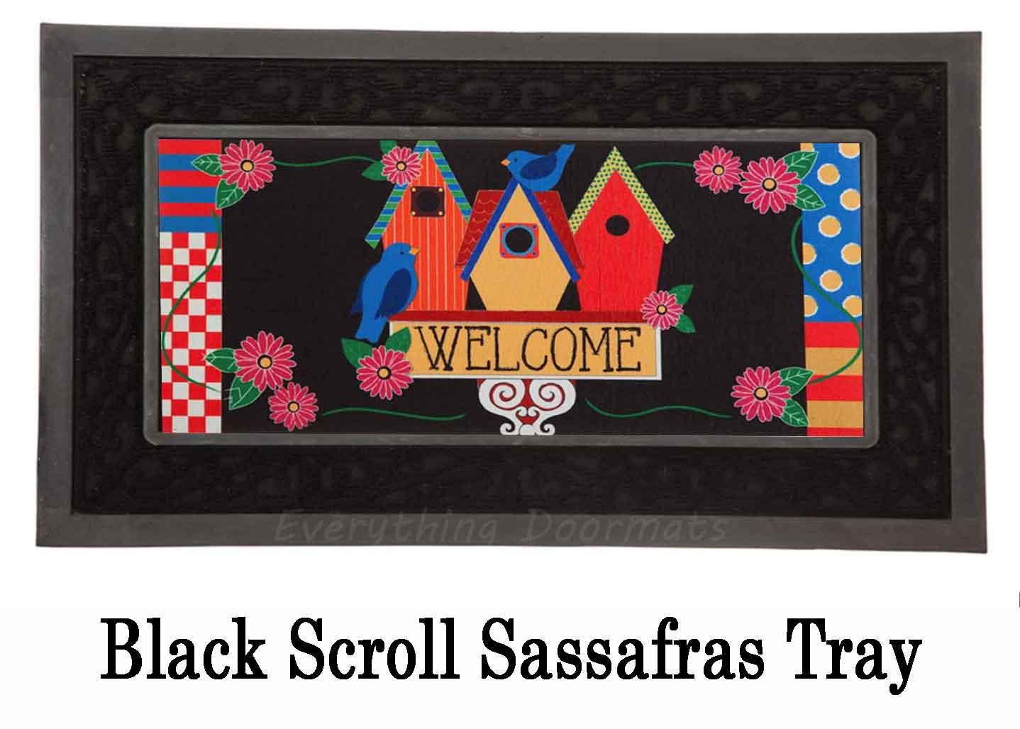 Sassafras Birdhouse Welcome Mat 10 X 22 Insert Doormat