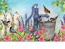 Indoor & Outdoor Birds of Spring MatMates Doormat - 18x30