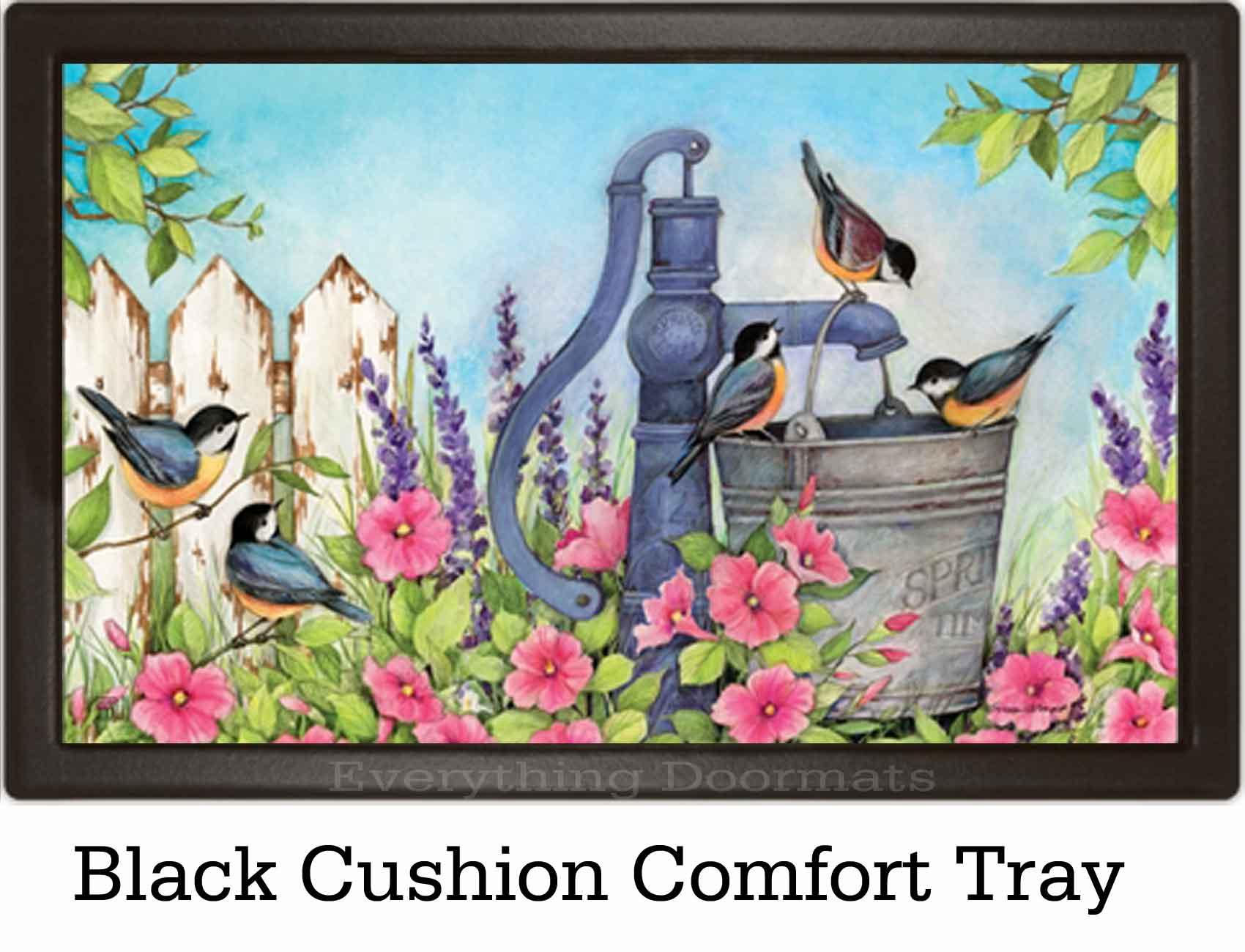 Indoor Amp Outdoor Birds Of Spring Matmates Doormat 18x30