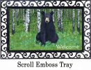 Indoor & Outdoor Black Bear in Birch MatMates Doormat