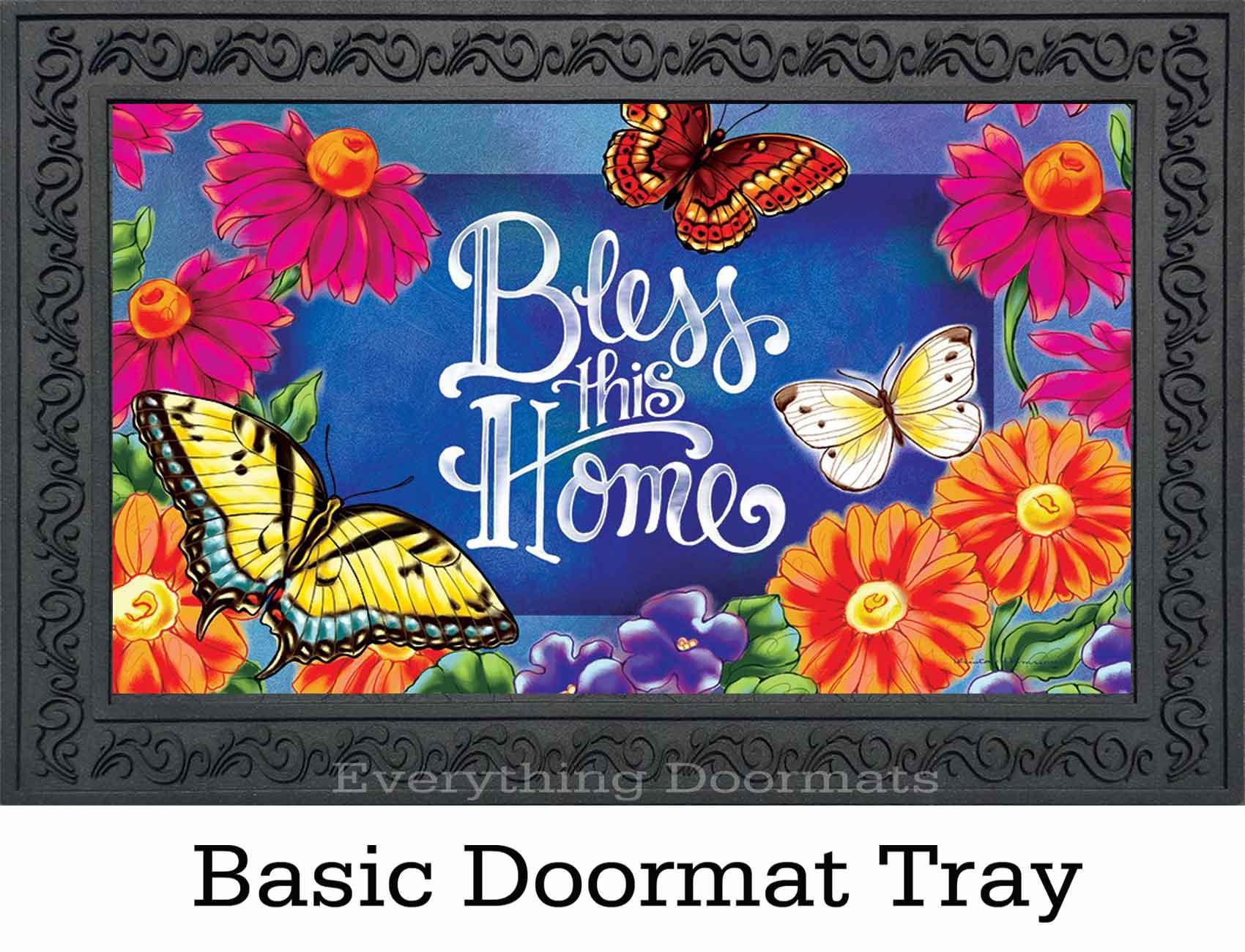 Indoor Amp Outdoor Bless This Home Insert Doormat 18x30
