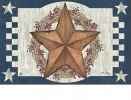 Indoor - Outdoor Blue Barn Star MatMate Doormat - 18 x 30
