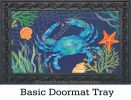 Indoor & Outdoor Blue Crab MatMate Doormat-18x30