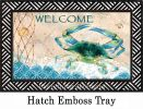 Indoor & Outdoor Blue Crab Net Insert Doormat-18x30