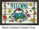 Indoor & Outdoor Blue Crab Welcome Insert Doormat - 18 x 30
