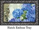 Indoor & Outdoor Blue Hydrangea Insert Doormat-18x30