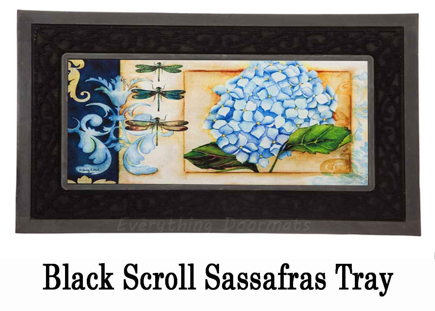 Sassafras Blue Hydrangea Mat 10 X 22 Insert Doormat