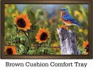 Indoor & Outdoor Bluebird Sunflowers Insert Doormat - 18x30