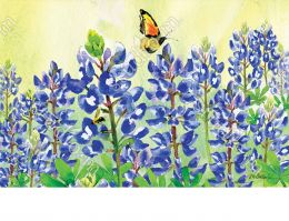 Indoor & Outdoor Bluebonnet Dream MatMate Doormat-18x30