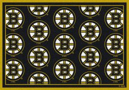 Boston Bruins NHL Repeating Logo Nylon Area Rug