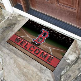 Boston Red Sox Flocked Rubber Doormat - 18 x 30