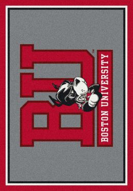 Boston University Spirit Area Rug - College Logo Mat