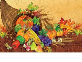Indoor & Outdoor Bountiful Harvest MatMates Doormat - 18 x 30