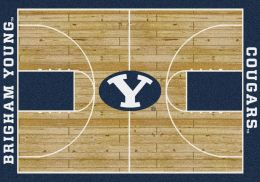 BYU Cougars Basketball Home Court Nylon Area Rug