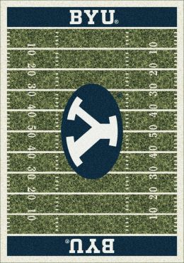 BYU Cougars Home Field Area Rug - Football Logo