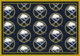 Buffalo Sabres NHL Repeating Logo Area Rug
