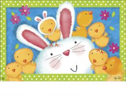Indoor & Outdoor Bunny Wanna Be MatMates Doormat–18 x 30