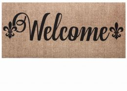 Sassafras Burlap Welcome Switch Mat - 10 x 22 Insert Doormat
