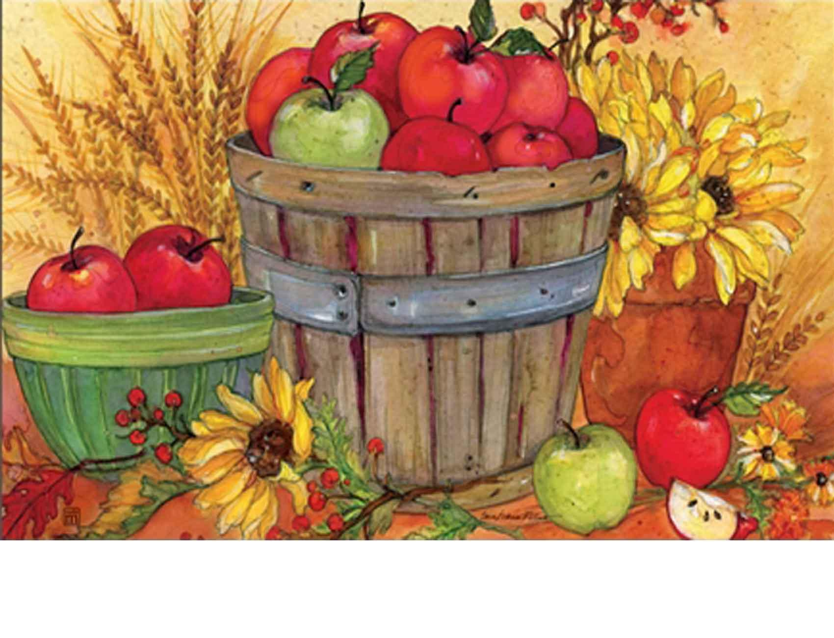 Indoor Amp Outdoor Bushel Of Apples Matmates Doormat 18 X 30