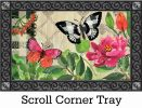 Indoor & Outdoor Butterflies in Check MatMates Doormat-18x30