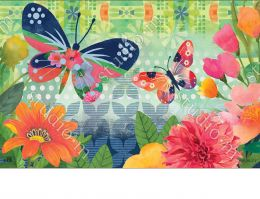 Indoor & Outdoor Butterflies in Flight MatMates Doormat-18x30