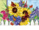 Indoor & Outdoor Butterflies & Blossoms MatMates Doormat