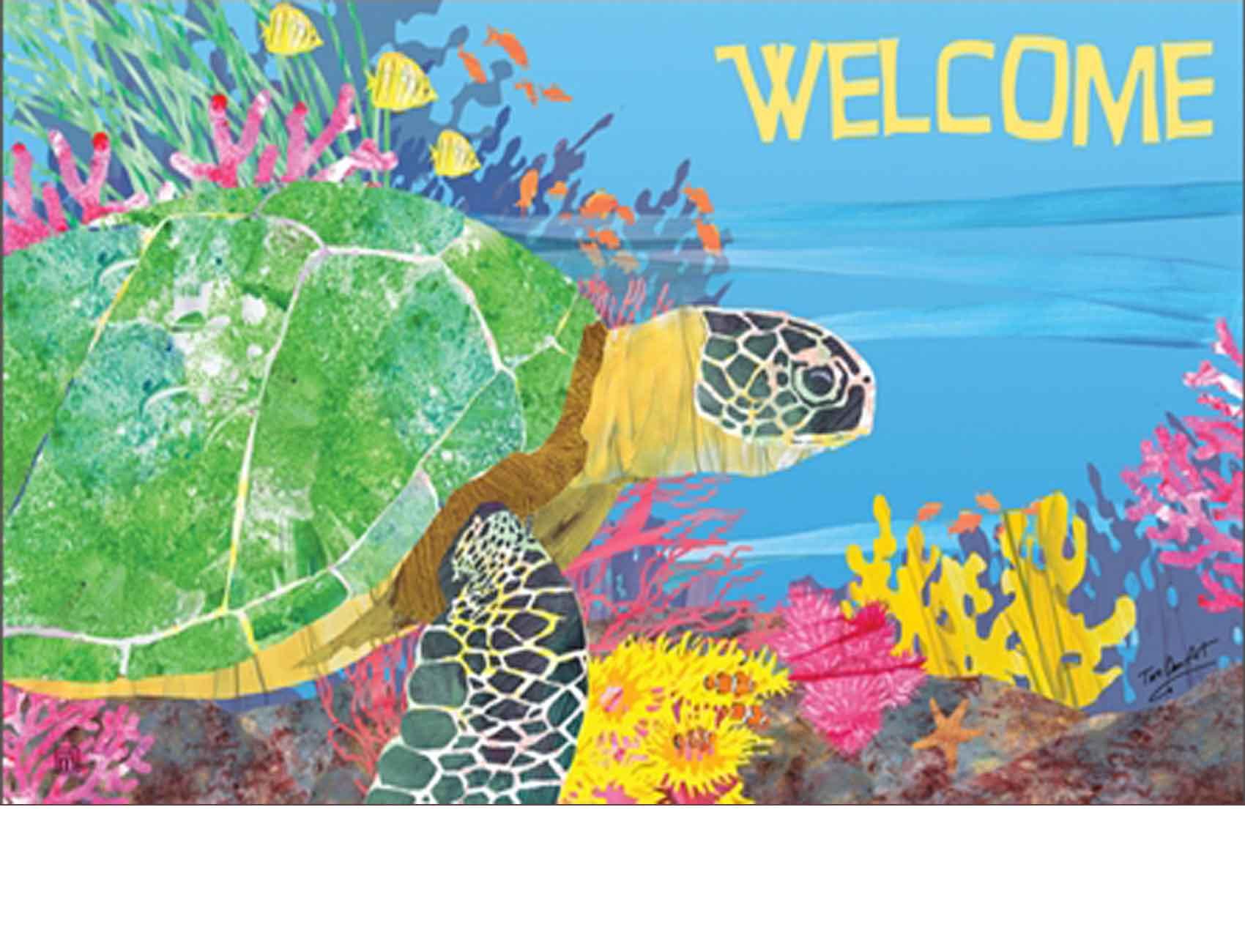 Indoor Amp Outdoor By The Sea Turtle Matmates Doormat