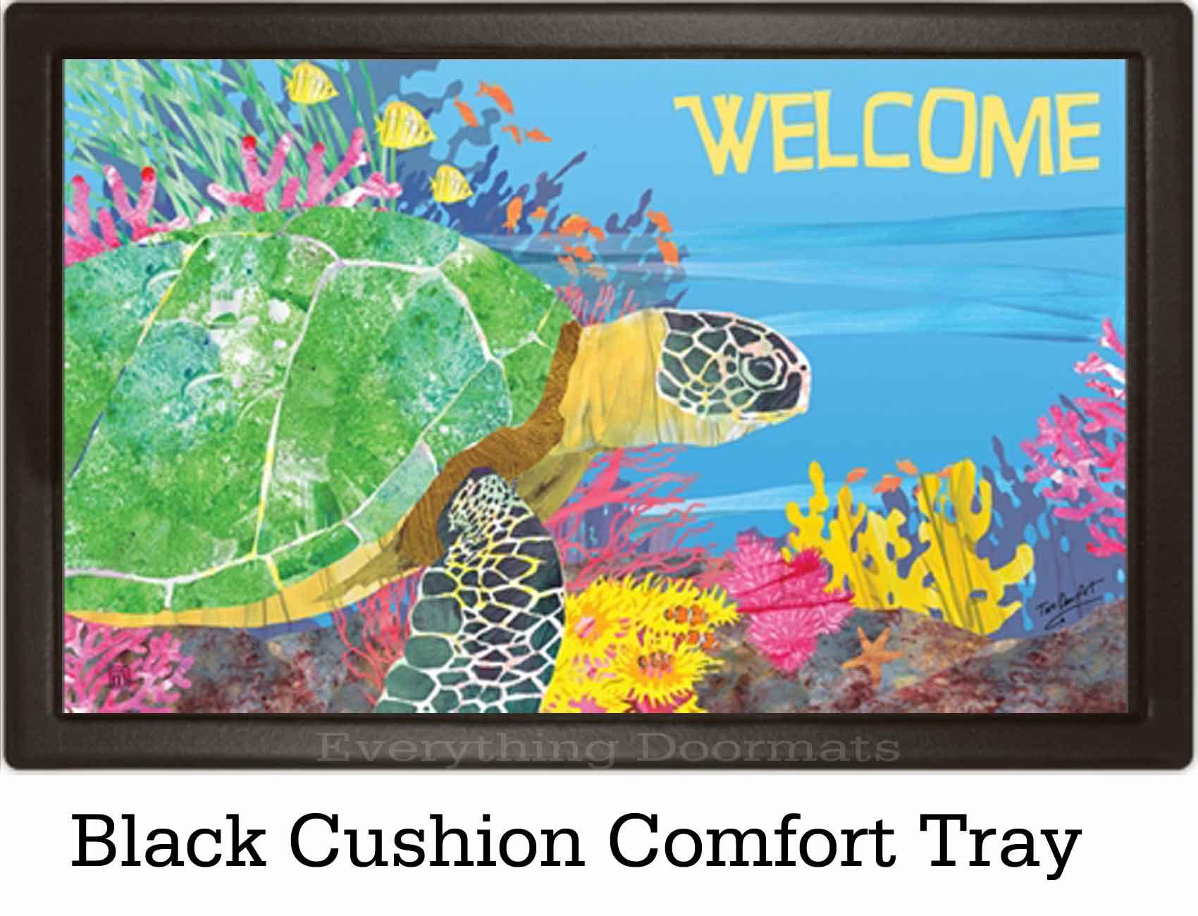 & Outdoor By the Sea Turtle MatMates Doormat