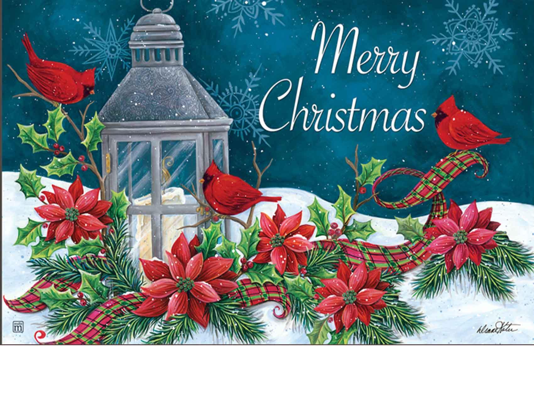 Indoor Amp Outdoor Cardinal Christmas Matmate Doormat 18x30