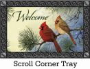 Indoor & Outdoor Cardinal Couple Insert Doormat - 18x30