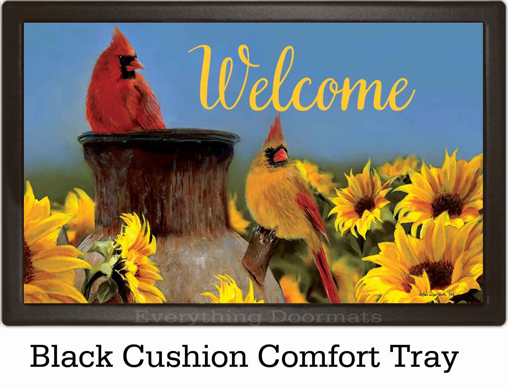 Indoor Amp Outdoor Cardinal Sunflowers Insert Doormat 18x30