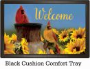 Indoor & Outdoor Cardinal Sunflowers Insert Doormat - 18x30