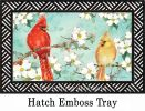 Indoor & Outdoor Cardinals in Spring MatMates Doormat-18x30