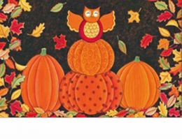 "Indoor & Outdoor Celebrate Fall Insert Doormat - 18"" x 30"""