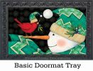 Indoor & Outdoor Chevron Snowman MatMates Doormat
