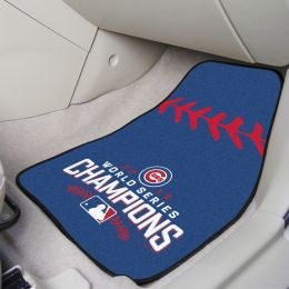 Chicago Cubs World Series Champs Carpet Car Mat Set
