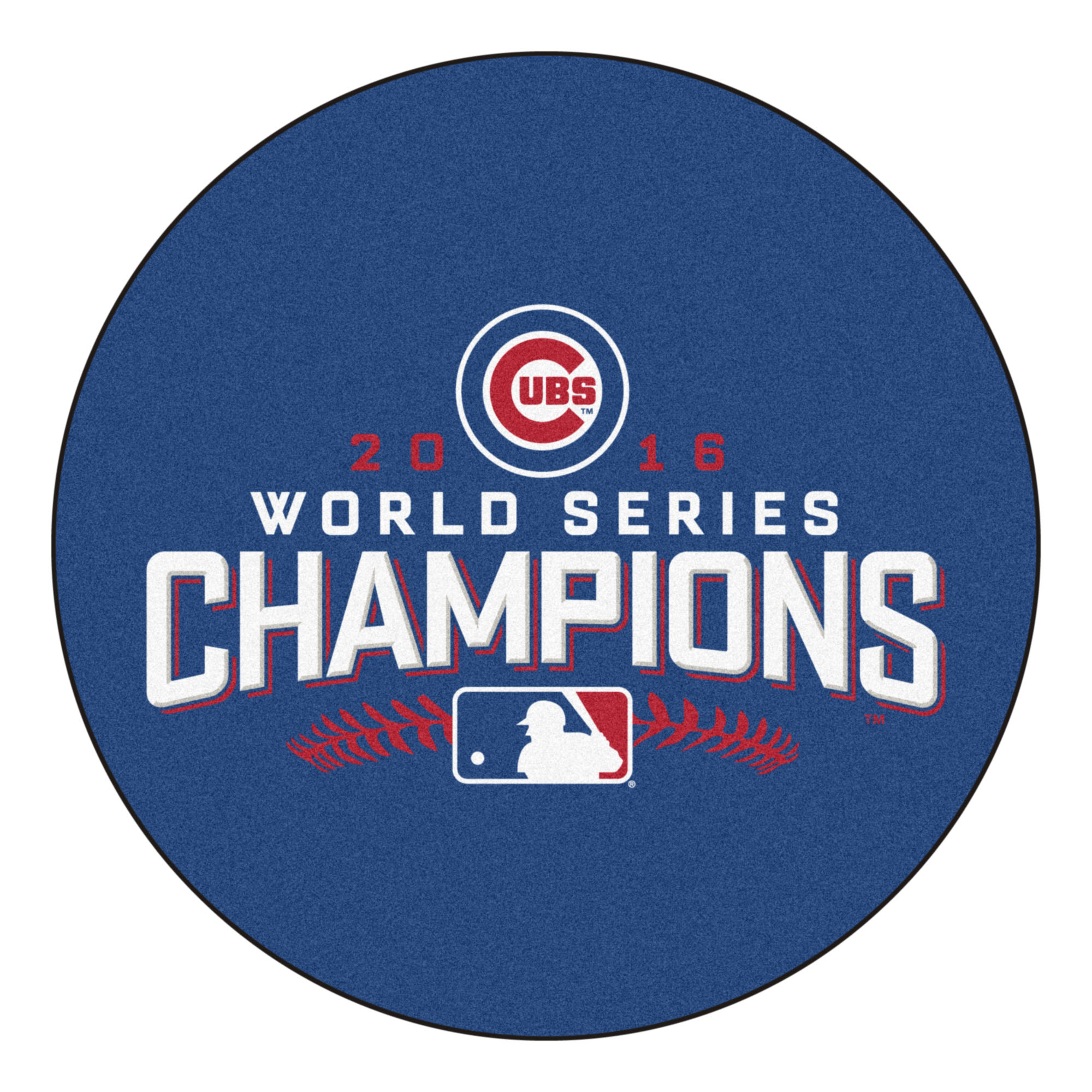 chicago cubs world series champs round area rug