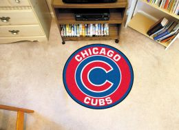 "Chicago Cubs Logo Roundel Mat – 27"" Round Area Rug"