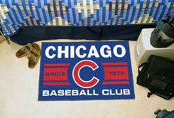 Chicago Cubs Baseball Club Starter Doormat–19 x 30