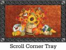 Indoor & Outdoor Chickadee Sunflowers Insert Doormat - 18x30