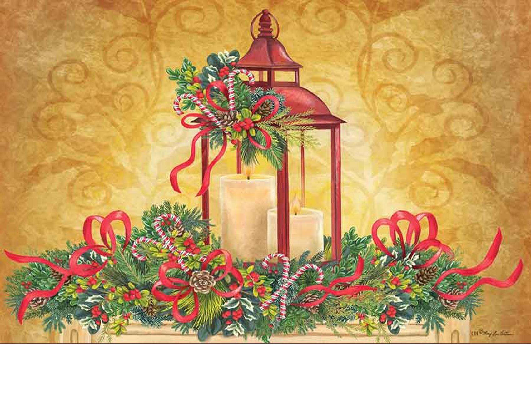 Indoor Amp Outdoor Christmas Lantern Insert Doormat 18 Quot X 30 Quot