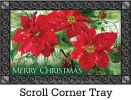 Indoor & Outdoor Christmas Poinsettia MatMate Doormat