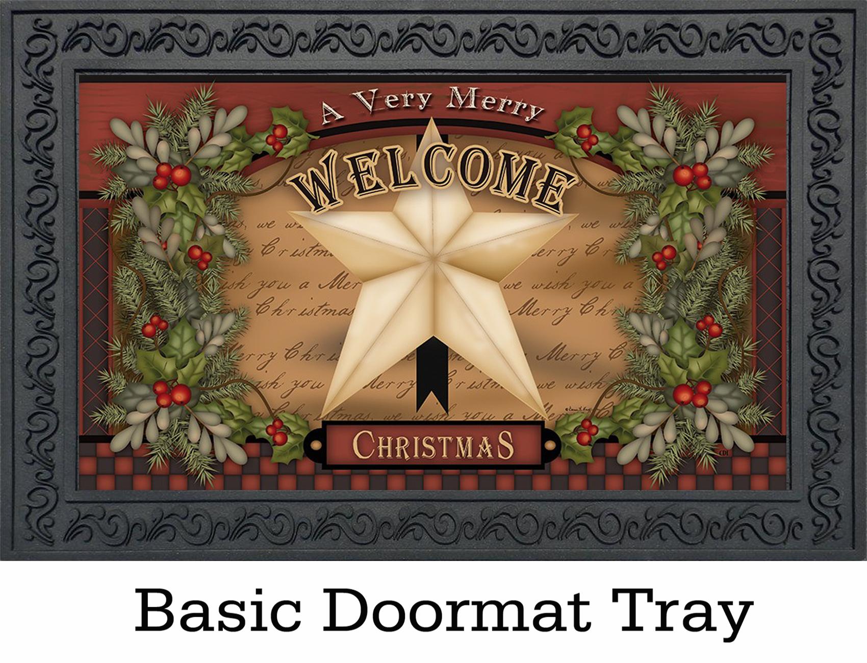 Indoor Amp Outdoor Christmas Star Insert Doormat 18 Quot X 30 Quot