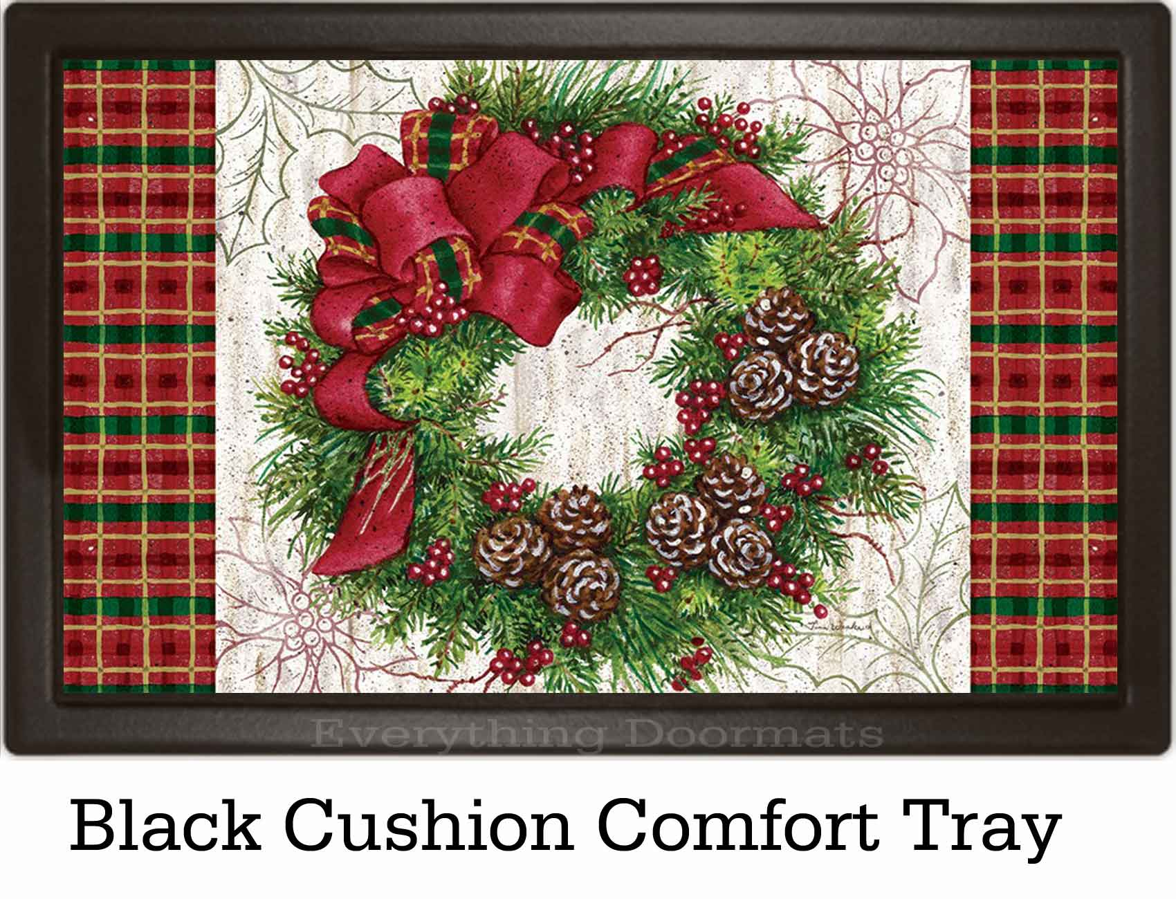 & Indoor u0026 Outdoor Christmas Wreath Insert Doormat - 18x30