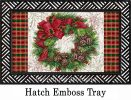 Indoor & Outdoor Christmas Wreath Insert Doormat - 18x30