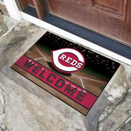 Cincinnati Reds Flocked Rubber Doormat - 18 x 30