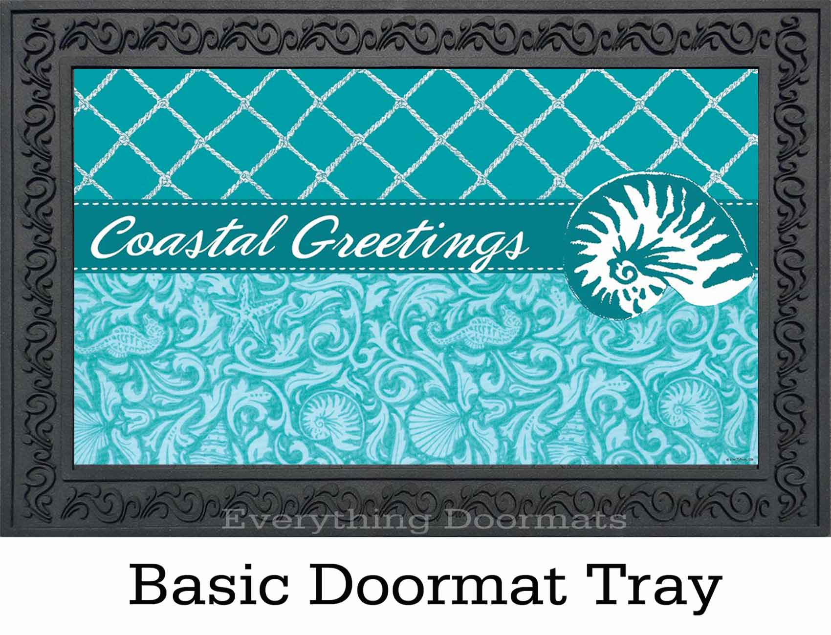 Indoor Amp Outdoor Coastal Greetings Insert Doormat 18x30