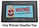 Sassafras Coastal Welcome Mat - 10 x 22 Insert Doormat