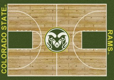 Colorado State Rams Basketball Home Court Nylon Area Rug